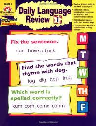 daily language review grade 1 amazon ca evan moor educational