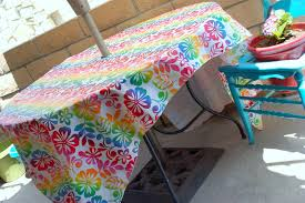 vinyl tablecloth and bunting icandy handmade