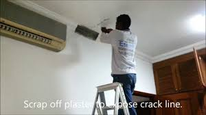 concrete ceiling pu grouting to concrete ceiling youtube