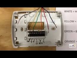 thermostat wiring youtube