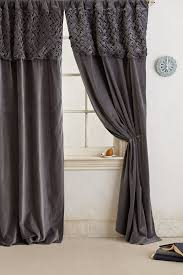 Anthropologie Ruffle Shower Curtain by Braided Velvet Curtain Want Need Love Pinterest