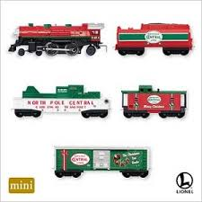 2007 lionel pole central hallmark miniature ornaments