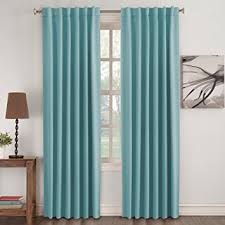 Insulated Thermal Curtains Turquoize Insulated Thermal Back Tab Rod Pocket