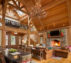 Timber Frame Home Interiors New Milford Timber Frame Tasos Kokoris