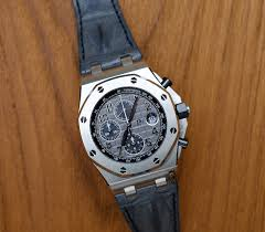 Grey Theme Lyan Watch Box Sold Audemars Piguet Royal Oak Offshore Grey