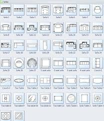 Set Design Floor Plan Symbols For Floor Plan Sofa