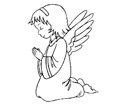 angel praying coloring page coloringcrew com