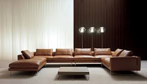 Sofa Set U Shape Outstanding Brown Leather U Shaped Sectional Italian Sofa Design