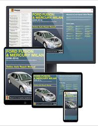 ford fusion and mercury milan 06 14 haynes online manual