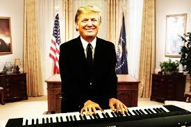 donald trump is singing for melania in the oval office http