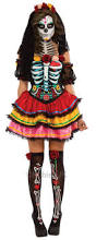 day of the dead senorita ladies fancy dress halloween skeleton