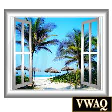 tropical window frame peel and stick palm trees relaxing scene tropical window frame peel and stick palm trees relaxing scene mural vwaq nw17