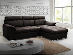 canapé d angle en cuir mariani chocolat angle droit prix promo