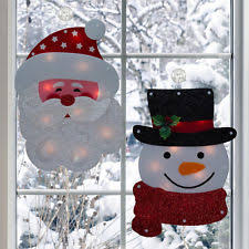 Pre Lit Christmas Window Decorations by Christmas Window Lights Ebay