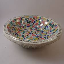 custom decorative mosaic fruit bowl by live in mosaics
