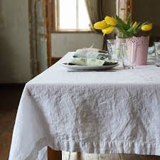 stonewashed white linen tablecloth linenme