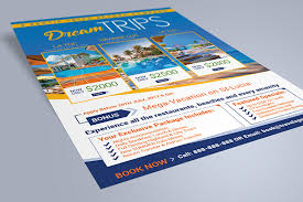 free flyer design free travel agency vacation flyer design template