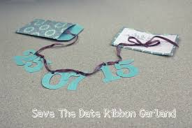 diy save the dates diy tutorial save the date ribbon garland boho weddings for the