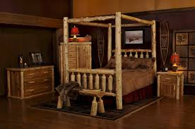 Cedar Log Bedroom Furniture by Log Bed Frames King Frame Decorations