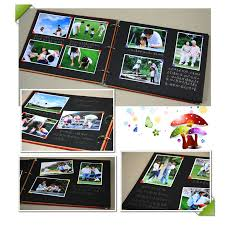 photo album pages sticky 3 vertical simple large blank manual diy album sticky type