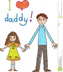 kids drawing fathers day stock photo image 29752500