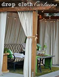 Curtains For Pergola Hey Everyone Today I Wanted To Share A One Day Makeover I