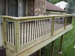 wood pressure treated lumber deck w aluminum balusters by mj