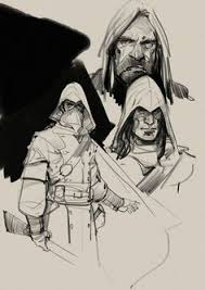 borislav mitkov illustration concept art characters sketches