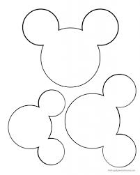 mickey head template crafts mickey mouse ears