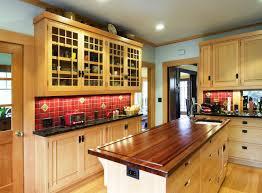 Red Tile Backsplash Kitchen Remodeling Your Kitchen By Using Mission Style Decorating
