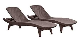 Patio Lounge Chairs Keter Pacific 2 Pack All Weather Adjustable Outdoor