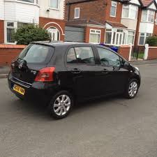 2008 toyota yaris 1 3 tr 5dr hatchback petrol manual 1 owner black