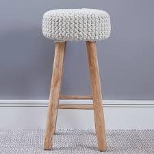 nordic crochet bar stool off white meadows u0026 byrne