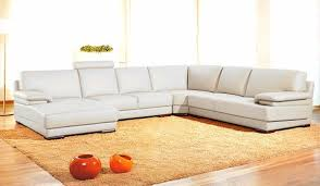 White Leather Sectional Sofa Divani Casa 2227 Modern Leather Sectional Sofa