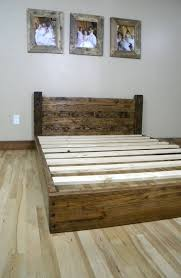 Diy Queen Platform Bed Frame Plans by Best 25 Rustic Wood Bed Frame Ideas On Pinterest Shiplap