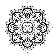 mandala to download free simple flower mandalas coloring pages