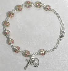 rosary bracelet venetian glass rosary bracelet 7 5 inches
