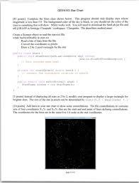 write graphics method draws stars chegg