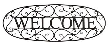 Iron Wrought Wall Decor Welcome Sign Wrought Iron Wall Décor U0026 Reviews Birch Lane