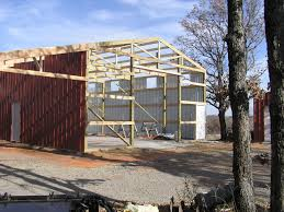 Truss Spacing Pole Barn Building A 24x24 Pole Barn For Tractor