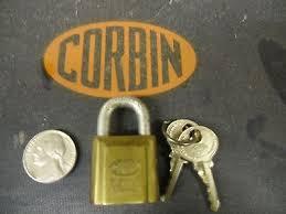 corbin cabinet lock co vintage padlock corbin cabinet lock co no key 9 95 picclick uk