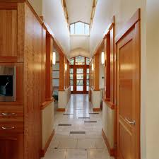 house hall design hall contemporary with wood molding half wall