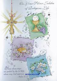 25th Anniversary Wishes Silver Jubilee Your Silver Jubilee Of Religious Life Greeting Card Jubs84001