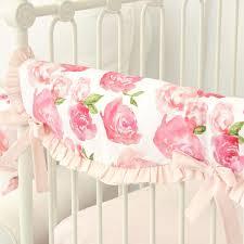 harlow u0027s watercolor rose bumperless crib bedding caden lane