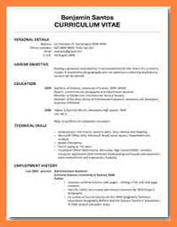 student cv 6 exle of a cv for a student bussines 2017