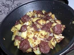 cuisiner le boudin recette de poêlée de pommes de terre au boudin noir