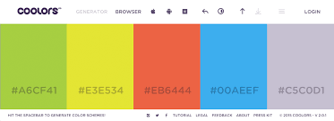 how to choose colors for an application or website design for