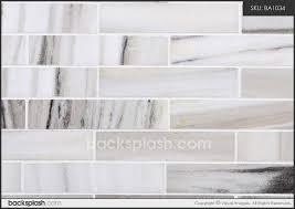 Gray Subway Tile Backsplash Light Grey Subway Tile Backsplash - White marble backsplash