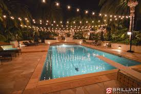Pool In Backyard by Market Lights Outdoors In Backyard Rancho Santa Fe