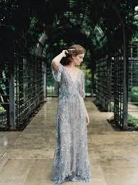 dusty wedding dress gossamer dusty blue wedding dress brides